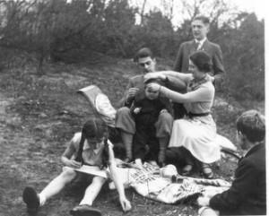 Picknick gezin Van Hall (eind jaren 30)