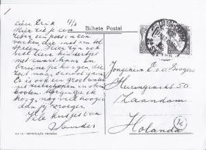 Brief van George Jambroes aan zoon