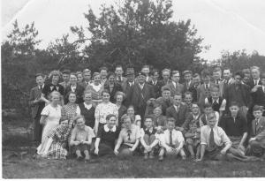 G.L. Jambroes tijdens schooluitje naar Het Gooi, 1937