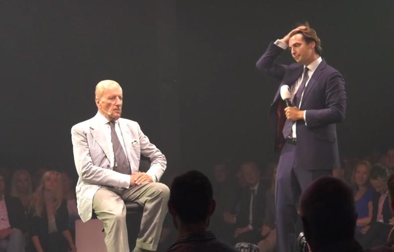 Theo Hiddema en Thierry Baudet in Zaandam, 3 september 2019